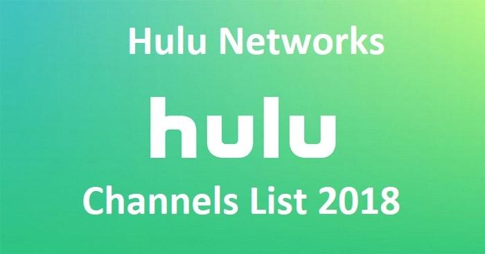 Hulu Channels List