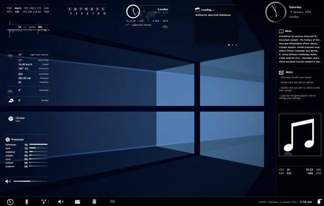 Best Rainmeter Skins Themes 2018 For Windows 10,8 1,7 - Techboxup