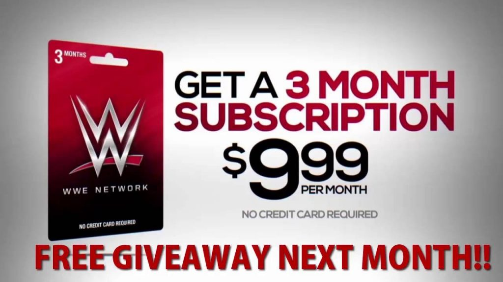Network up wwe sign WWE Network