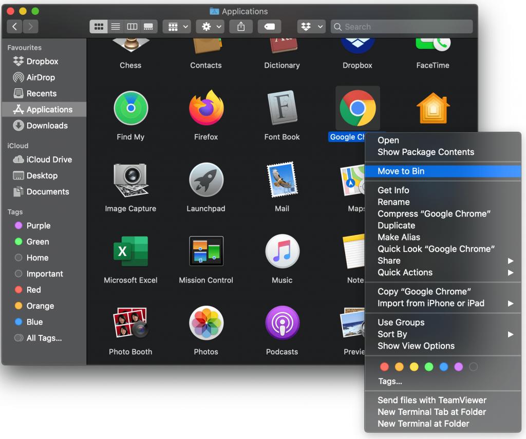 Delete App on Mac