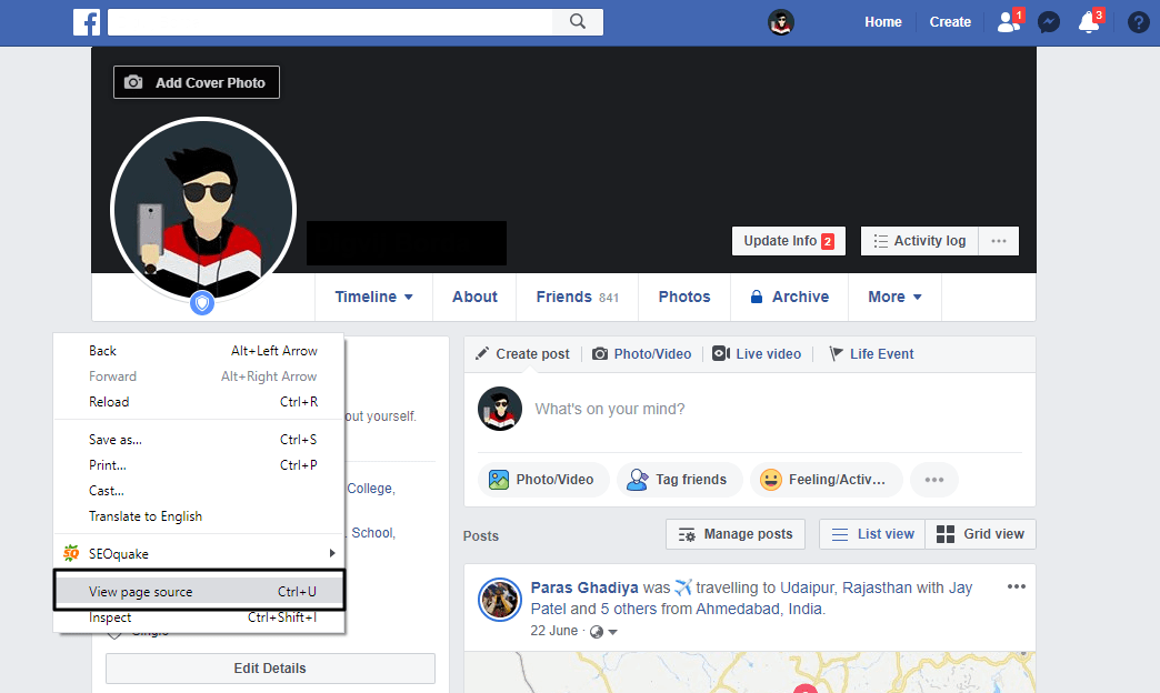 Chrome facebook profile for visitors google Must Have