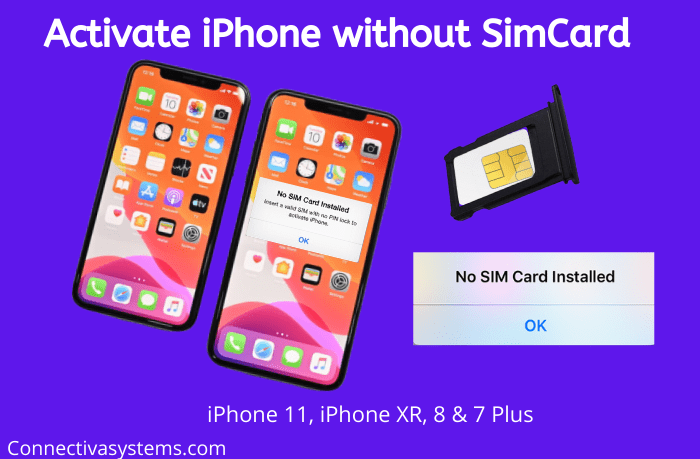 Activate iPhone without Simcard