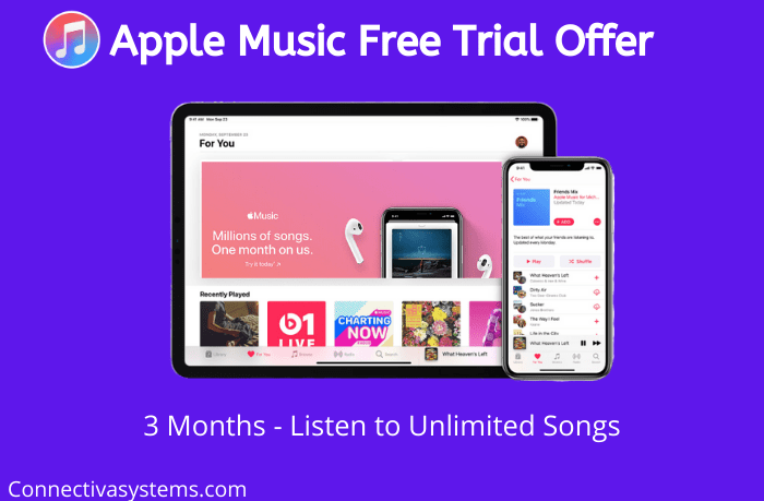 Apple Music Free Trial Offer