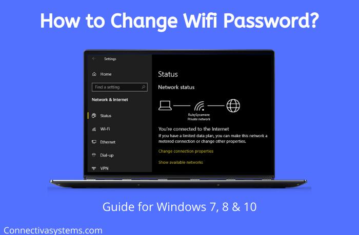 Change Wifi Password on Windows 10 & 7