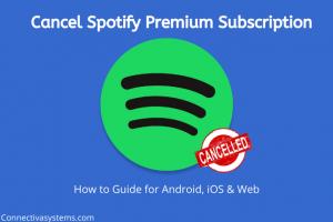 Cancel Spotify Premium Subscription