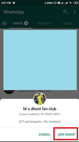 Chat whatsapp group link