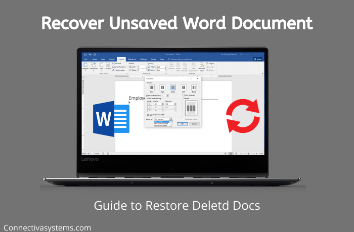 Recover Unsaved Deleted Word Document