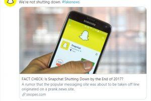Snapchat fake news