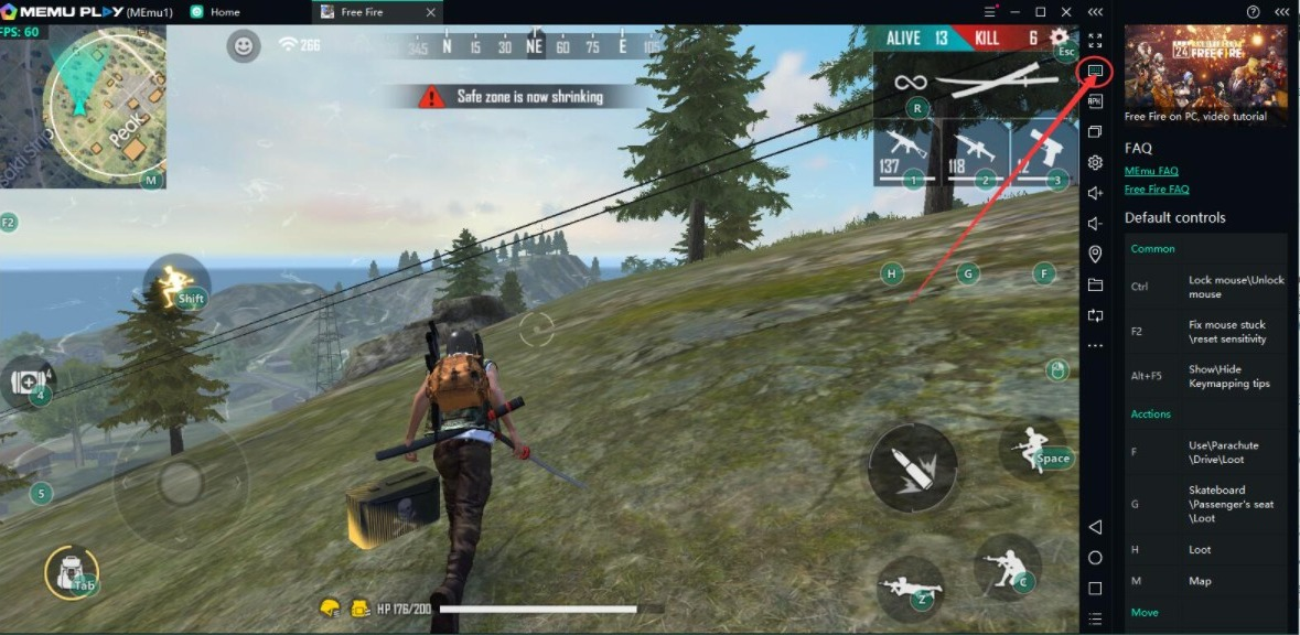 download free fire on PC with Memu Play