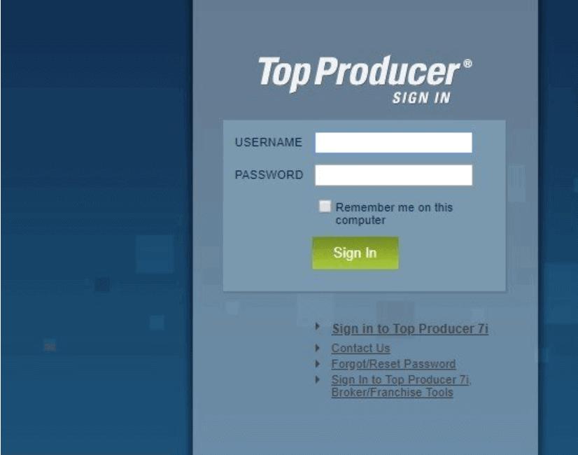 Topproducer8i Login