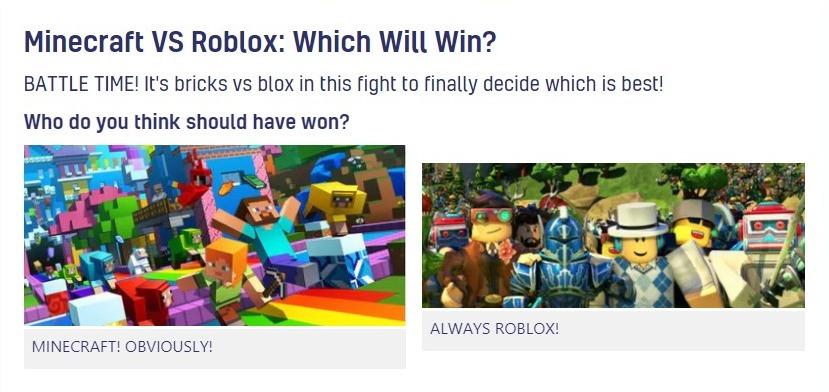 Roblox vs Minecraft: The Battle