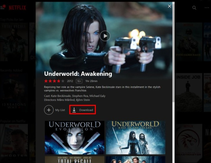 download Netflix shows on pc