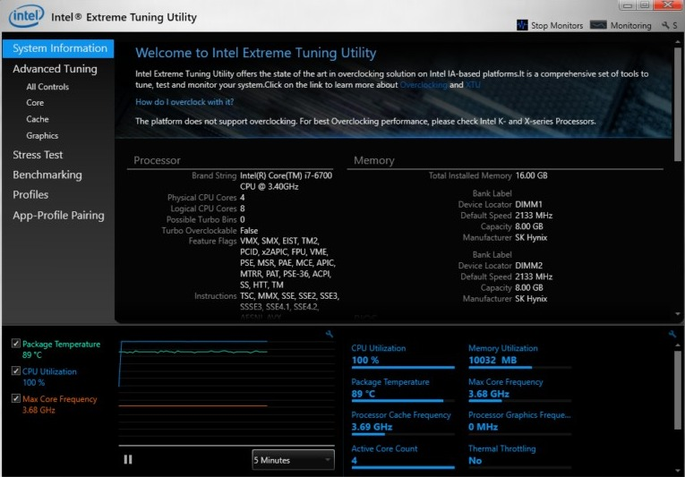 intel overclocking software