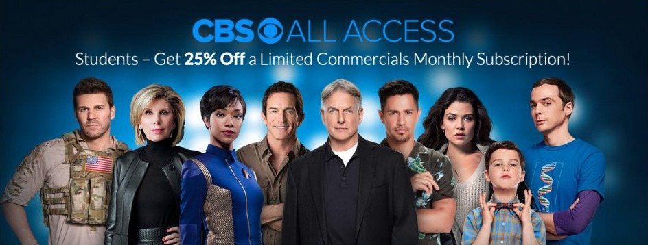 cbs all access student discount