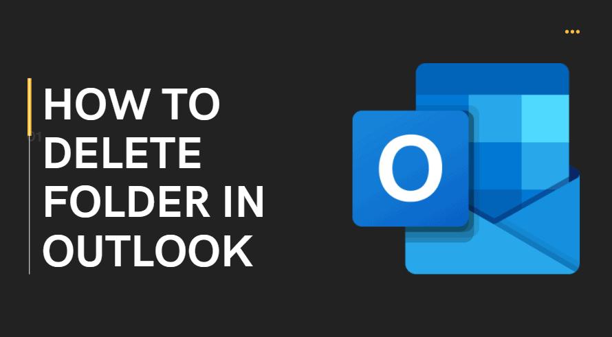 How to delete folder in outlook