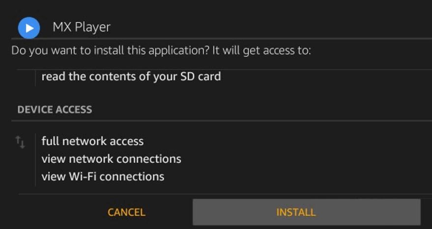 MX player using Downloader