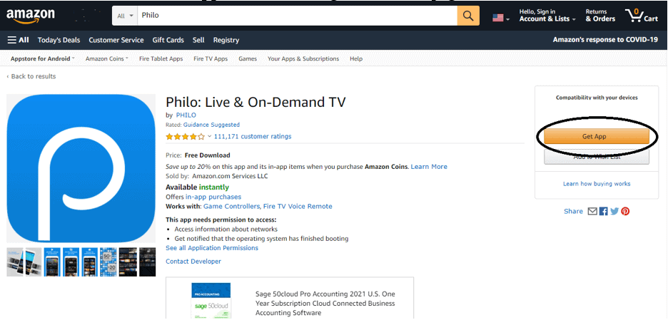 philo on demand